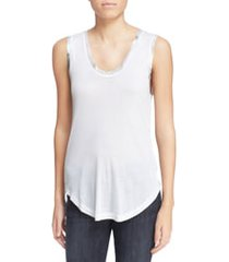 women's zadig & voltaire tam scoop neck tank, size x-small - white