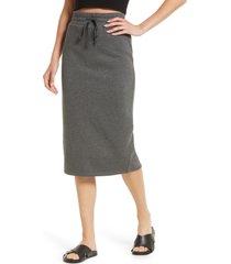 treasure & bond drawstring waist knit skirt, size x-large in grey medium charcoal heather at nordstrom