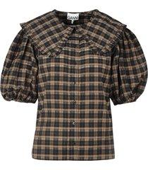 seersucker geruit overhemd