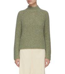 raglan sleeve crewneck sweater