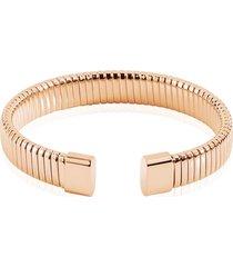bracciale bangle small in acciaio rosato per donna
