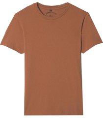camiseta john john budapest brown malha marrom masculina (marrom, gg)