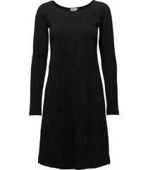 open neck dress jurk knielengte zwart filippa k