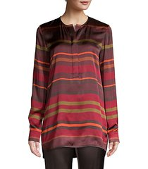 autumn stripe tunic blouse