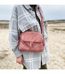 torebka damska kuferek różowa
