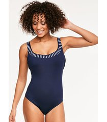 san remo underwire non padded scoop back one-piece swimsuit