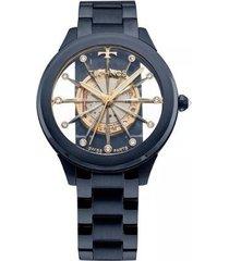 relógio feminino technos elegance f03101ad/4w aço