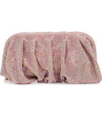 benedetta bruzziches crystal-embellished clutch bag - pink