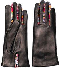 paul smith swirl gloves - black