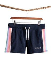superdry women's rainbow straight hem shorts