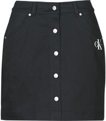rok calvin klein jeans cotton twill mini skirt