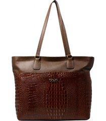 bolsa de couro recuo fashion bag tote caramelo/castor