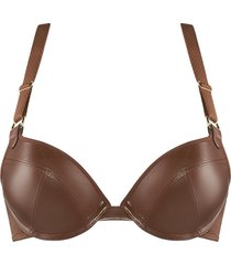 femme fatale push up bh | wired padded burnt caramel - 70f