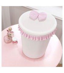 lixeira bebe menina branco/rosa bailarina grão de gente rosa