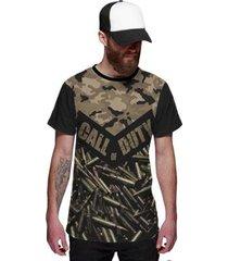 camiseta call of duty munição estilo camuflagem masculina - masculino