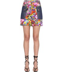 boutique moschino printed shorts