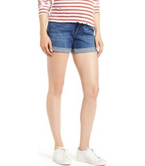 7 for all mankind roll cuff denim shorts, size 34 in broken twill vanity at nordstrom