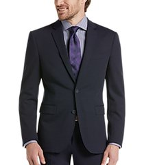 awearness kenneth cole awear-tech navy extreme slim fit suit