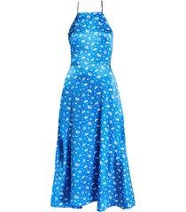 reece halter dress, turquoise zodiac