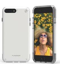 estuche protector puregear dualtek pro iphone 7 plus - blanco