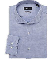 mark sharp-fit dotted dress shirt