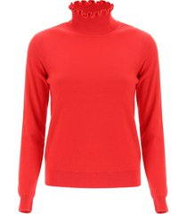 see by chloé ruched neck sweater