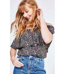 blusa ciganinha estampa floral