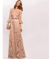 sukienka haftowana z cekinami