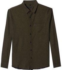 camisa john john jake algodão marrom masculina (marrom medio, gg)
