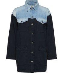 lmc trucker chore coat lmc cow overhemd met lange mouwen blauw levi's made & crafted
