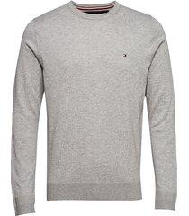 core cotton-silk cneck stickad tröja m. rund krage tommy hilfiger