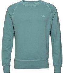 d2. sunfaded c-neck sweat sweat-shirt trui groen gant