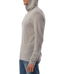 men's alternative longline pullover sleep hoodie, size medium - grey
