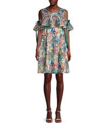 patrizia luca women's cutout shoulder cotton dress - size xs