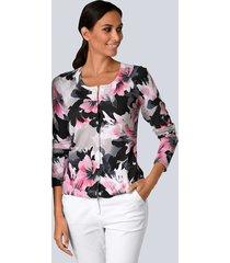 vest alba moda zwart::wit::pink::grijs