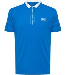 boss men's paddy mk stripe-detail polo shirt