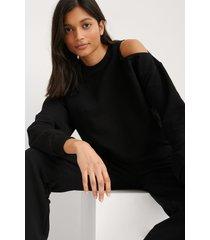 na-kd ekologisk sweatshirt med utskuren detalj - black