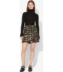 proenza schouler printed fil coupe mini skirt pale yellow/black 0