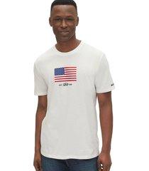 camiseta blanco-azul-rojo gap