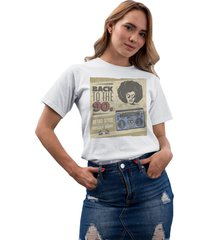 camiseta basica my t-shirt back to the 90s branco