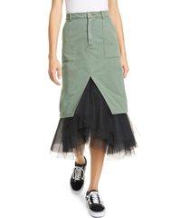 women's le superbe ms. benjamin tulle hem midi skirt