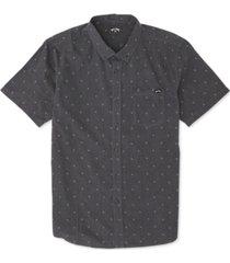billabong men's all day geo jacquard shirt
