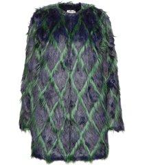 louisy coat fake fur arlequin patern outerwear faux fur grön zadig & voltaire
