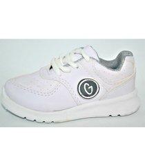zapatilla  blanca gurises escolar