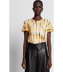proenza schouler tie dye short sleeve t-shirt marigold/pink/black/neutrals l