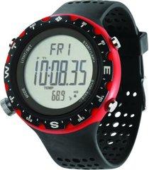 relógio columbia singletrak preto/vermelho