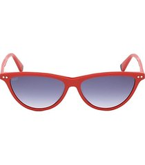 55mm narrow cat eye sunglasses