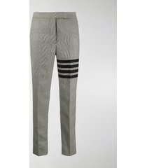 thom browne 4-bar prince of wales check trousers