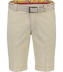 meyer b-palma shorts flatfront modern fit beige
