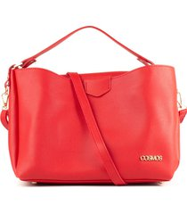 bolso tipo shopping rojo de dama cosmos